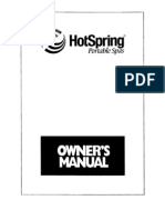 1995 Scanned Hot Spring Owners Manual