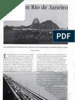 Pós graduação em história do Rio de Janeiro - UFF - 2008