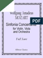 mozart - partituras - sinfonía concertante para violin y viola - kv364[1]