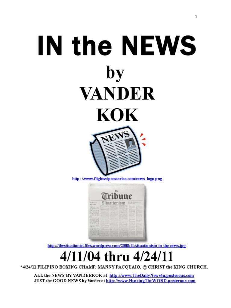 Dl In The News April 2004 To April 2011 The Gospel Jesus