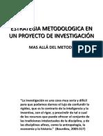 Mtodo y a en La Investigacin