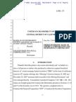Judge Pfaelzer Order Dismissing BofA in Maine State Retirement System v. Countrywide, et al.