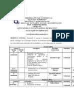 formatos de la planificación y del contrato didáctico