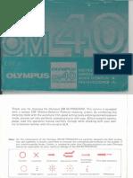 Olympus OM40 Program Camera owner's manual