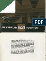Olympus OM-1n camera user's manual