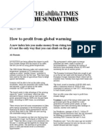 The Sunday Times - UBS Global Warming Index - Ilija Murisic - May 07