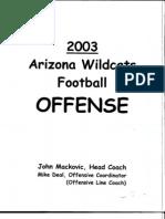 2003 Arizona Wildcats Offense