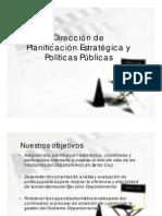 Dirección de planificación estrategica y politicas públicas