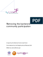 Removing Barriers to Participation