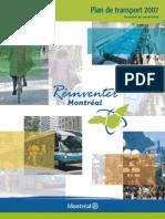 Montreal Plan de Transport