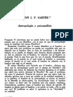 Sartre, Jean-Paul - Entrevista. Antropología y psicoanálisis [Dialéctica, nº 6, 1979]