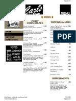 carls menu