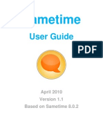Sametime - User Guide
