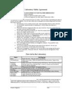 Laboratory Safety Agreement