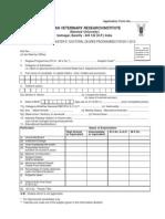IVRI PhD Entrance Application Form 2011-12