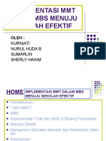 Implementasi Mmt Dalam Mbs Menuju Sekolah Efektif