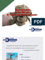 Leadership in Maintenance Management