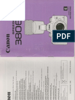 """Canon 380EX Flash owner's manual - for printing on 8-1/2"""" x 11"""" sheet"""