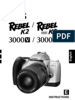 Canon Rebel K2 - 35mm SLR Camera owner's manual