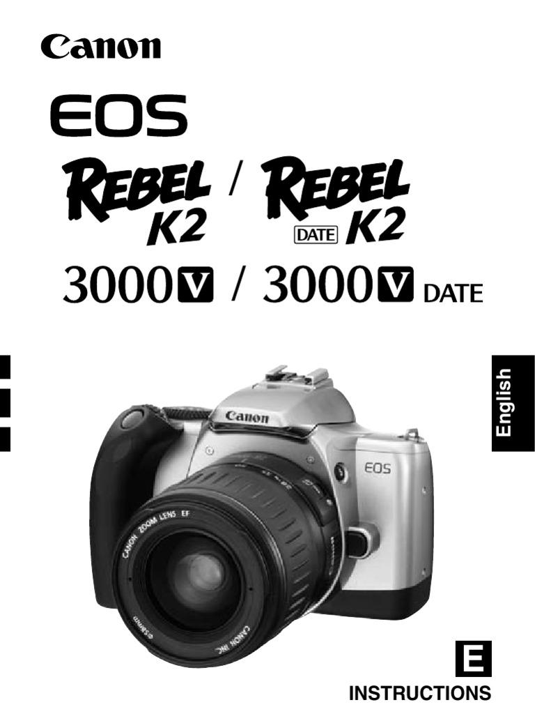 canon rebel k2 35mm slr camera owner s manual exposure rh scribd com