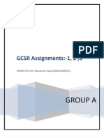 Gcsr 1, 2 , 3 Assignments by Manpreet Kaur