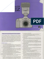 Canon Speedlite 540EZ - owner's manual