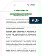 Nota Informativa - Aviso de Abertura Do Concurso; 2011.Abr.26