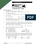 Physics Chemistry Mathematics IITJEE Test
