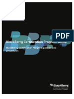 Blackberry Certification Program Guide