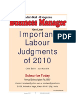 Imp. Labour Judgments- 2010