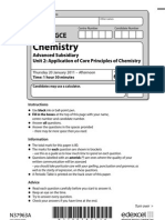 edexcel chemistry AS UNIT 2 2011 QP