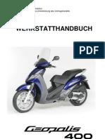 Chassis Geopolis 400cc-02a - Werkstatthandbuch