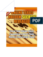 Online Texas Holdem Secrets Cheats
