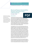 Fiscal and Pension Sustainability Present and Future Issues in EU Countries