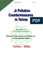 Air Pollution Countermeasures in Tehran