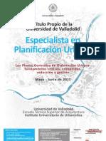 Especialista en Planificación Urbana [cartel]