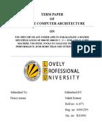 Advanced Computer Architecture 1