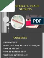 Corporate Trade Secrets