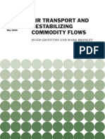 Air Transport and Destabilizing Commodity Flows