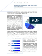 South East Asia's patient monitoring market reached USD60 million in 2007 (clearstate)