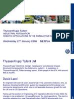 Presentation of Industrial Automation - David Land