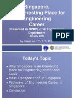 BINUS Presentation-Engineering Career in Singapore