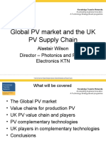 Session 1 - UK Photo Voltaic Supply Chain Presented by Alastair Wilson
