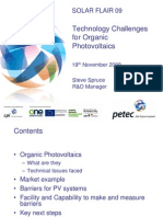 Session 6 - Technology Challenges for Organic Photovoltaics Presented by Steve Spruce