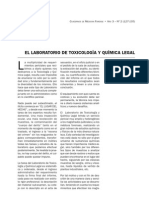 EL LABORATORIO DE TOXICOLOGÍA Y QUÍMICA LEGAL