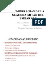 2. Hemorragias de La Segunda Mitad Del Embarazo