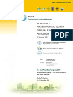 Proceedings of the Workshop on Addressing Food Security through Sustainable Aquaculture