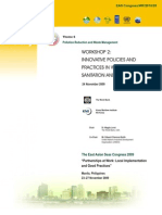 Proceedings of the Workshop on Innovative Policies and Practices in Water Supply, Sanitation and Pollution