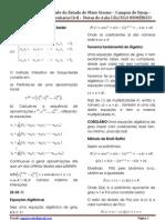 Notas de Aula - Cálculo Numérico