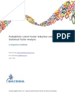 Probabilistic Latent Factor Induction and Statistical Factor Analysis